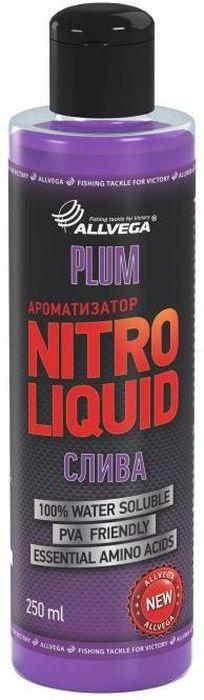 Ароматизатор жидкий Allvega Nitro Liquid. Plum, 250 мл0057679Жидкий ароматизатор Allvega Nitro Liquid. Plum применяется для ароматизации рыболовных прикормок и насадок. При добавлении в смесь значительно повышает ее привлекательность для рыбы. АроматизаторAllvega Nitro Liquid. Plum - это любимый рыболовами нежный сливовый вкус. Эффективная добавка для ловли белой рыбы.Товар сертифицирован.Объем: 250 мл.