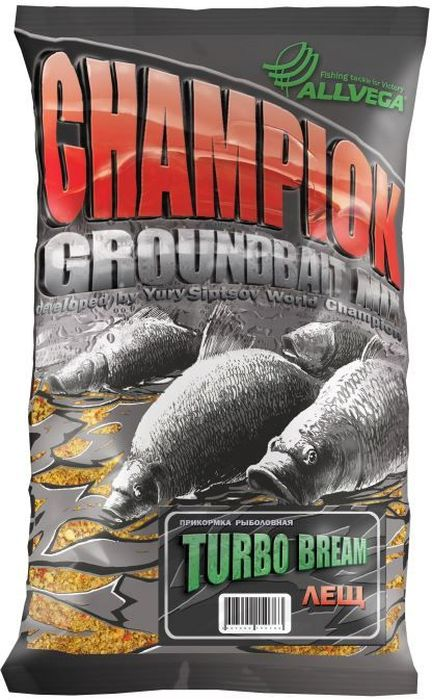 Прикормка ALLVEGA Champion Turbo Bream, турбо лещ, 1 кг