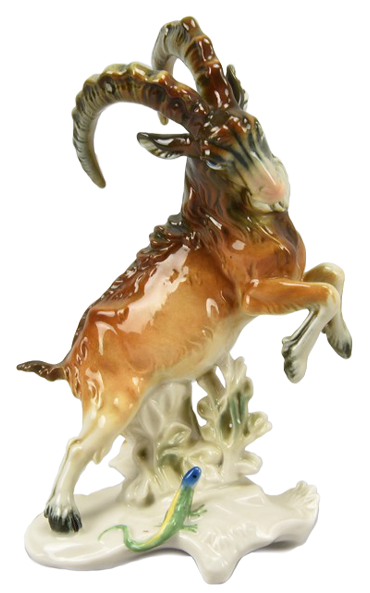 Статуэтка Karl Ens Горный козел. Фарфор, роспись, ручная работа. Германия, 1920-е гг. пошел козел на базар