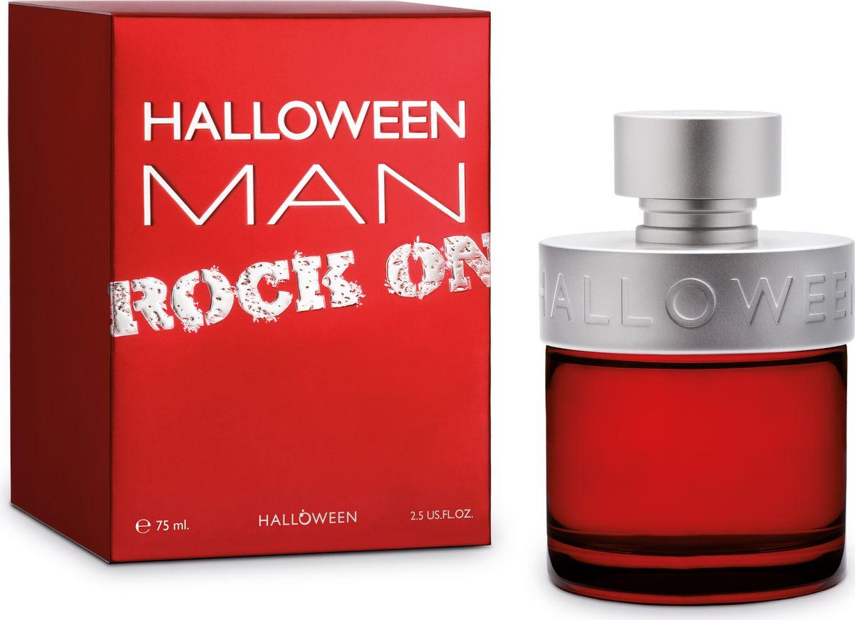 Halloween Man Rock On Туалетная вода 75 мл50151Новая версия Halloween MAN выполнена в насыщенно красном и матовом алюминиевом цветах.