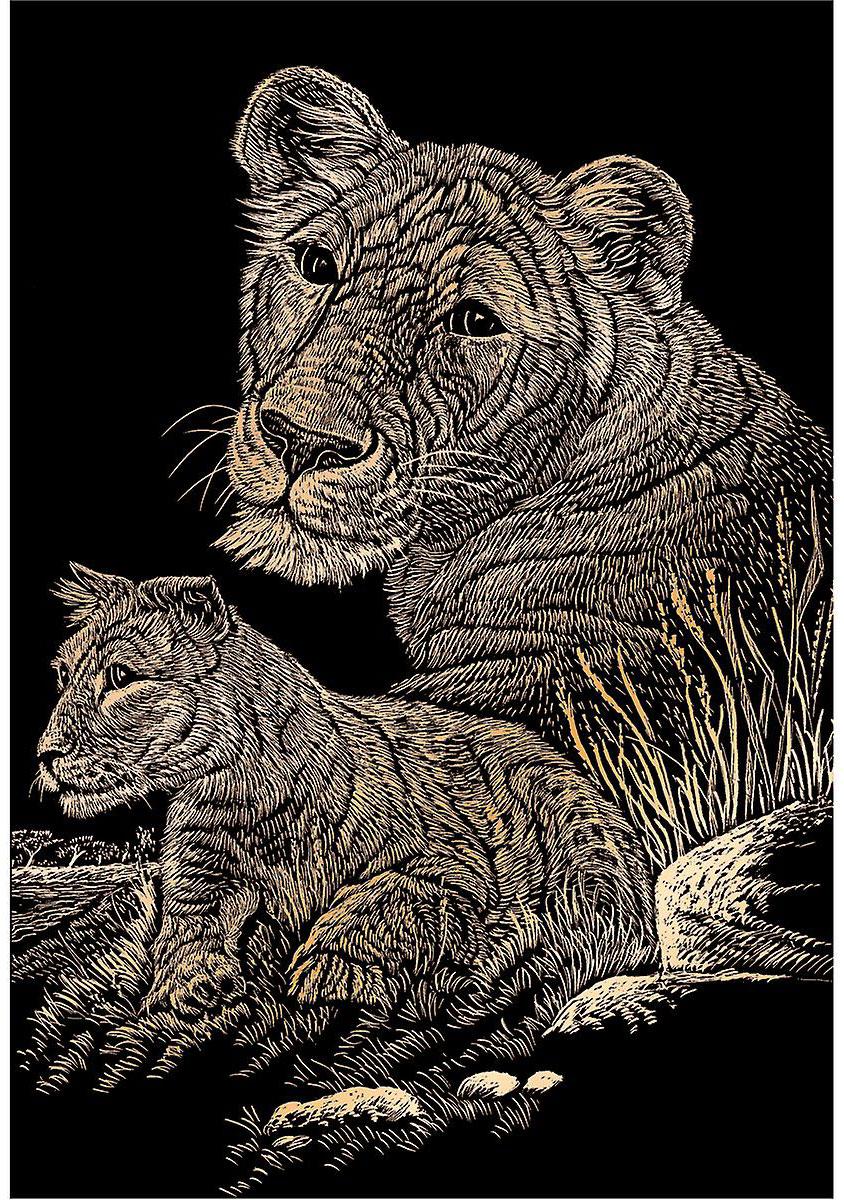 Royal & Langnickel Гравюра с эффектом меди Львы
