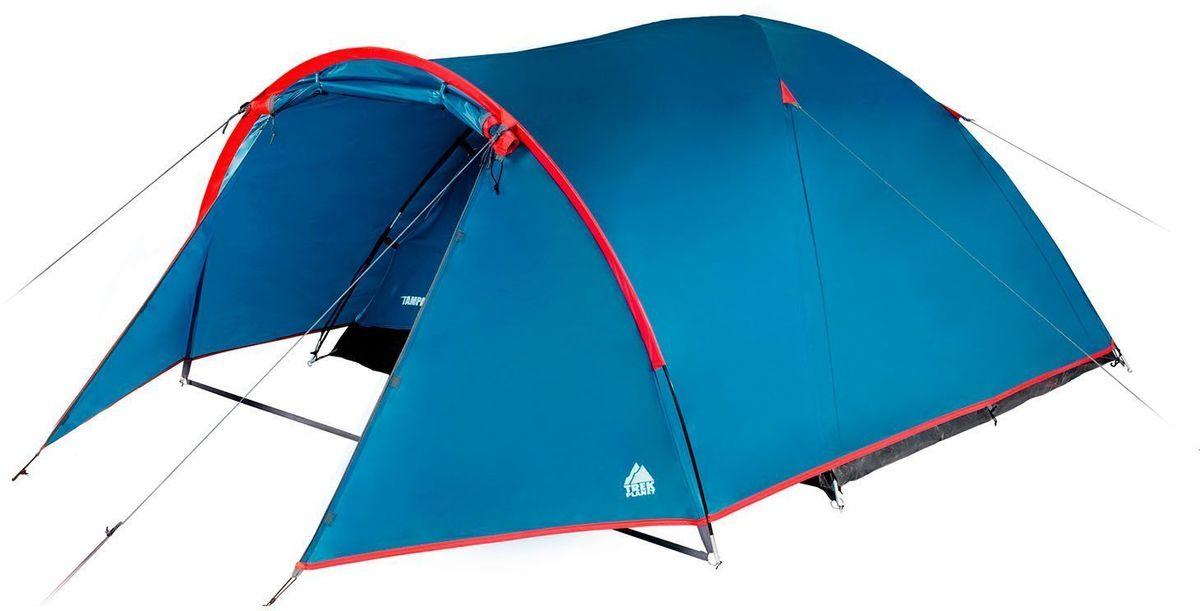 Палатка четырехместная TREK PLANETTampa 4, цвет: синий, красный70115Четырехместная палатка TREK PLANET Tampa 4 имеет вместительный тамбур и хорошую вентиляцию. Очень удобная палатка для отдыха или пикника выходного дня для небольшой семьи или компании. Прочная и надежная, легко и просто устанавливается, отлично защитит от дождя и ветра.Особенности модели:Палатка легко и быстро устанавливается,Тент палатки из полиэстера, с пропиткой PU водостойкостью 2000 мм, надежно защитит от дождя и ветра,Все швы проклеены,Внутренняя палатка, выполненная из дышащего полиэстера, обеспечивает вентиляцию помещения и позволяет конденсату испаряться, не проникая внутрь палатки,Каркас выполнен из прочного стеклопластика,Дно изготовлено из прочного армированного полиэтилена,Просторный тамбур,Удобная D-образная дверь на входе во внутреннюю палатку,Москитная сетка на входе в спальное отделение в полный размер двери,Вентиляционное окно,Внутренние карманы для мелочей,Возможность подвески фонаря в палатке. Характеристики:Количество мест: 4Размер: 240 х (210+130) х 130 см.Материал верхнего тента: 100% полиэстер, пропитка PU.Водостойкость: 2000 мм.Материал внутренней палатки: 100% дышащий полиэстер.Материал пола: 100% полиэтилен.Материл дуги: стекловолокно, 8,5 мм.Вес палатки: 4,6 кг.Размер палатки (в собранном виде): 20 х 20 х 62 см.