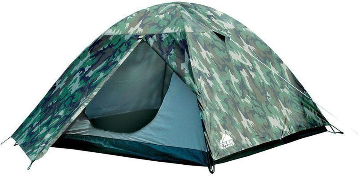 Палатка четырехместная TREK PLANET Alaska 4, цвет: камуфляж палатка 3 м trek planet vermont 3 синий красный
