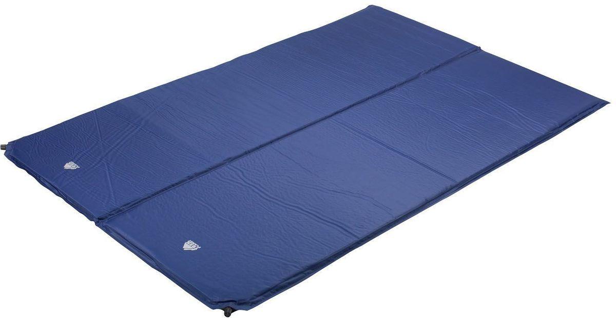 Коврик TREK PLANET  Active Double 38 , самонадувающийся, цвет: синий, 183 х 130 х 3,8 см - Туристические коврики