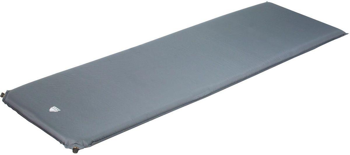 Коврик кемпинговый TREK PLANET Relax 50 самонадувающийся, цвет: серый, 198 х 63,5 х 5 см коврик самонадувающийся trek planet active 38 цвет синий 183 х 51 х 3 8 см