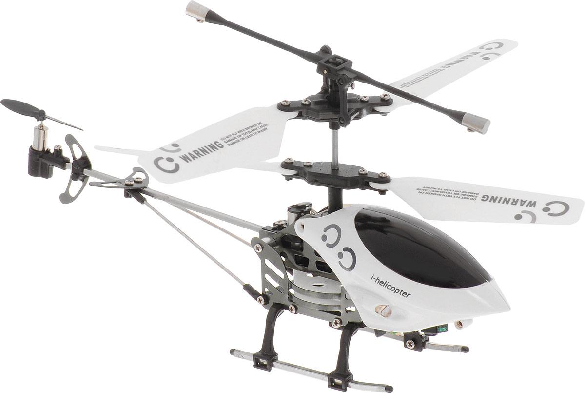 HappyCow Вертолет на инфракрасном управлении I-Helicopter цвет белый черный happycow