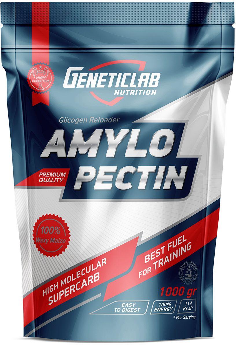 Углеводы Geneticlab Amylopecitn, без вкуса, 1 кг протеин geneticlab сывороточный протеин whey pro 100% whey апельсин 1000 гр