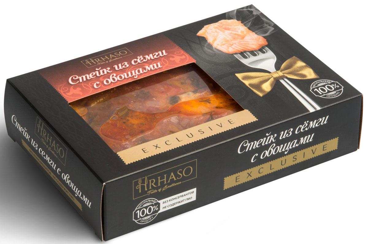 Рускон Hrhaso стейк из семги с овощами, 400 г экопродукт грузди в сметанном соусе тм экопродукт 340 г