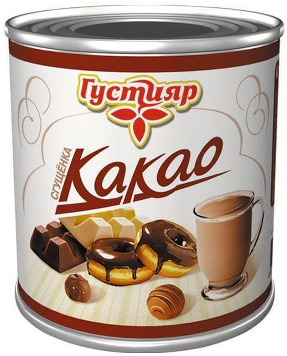 Союзконсервмолоко Густияр молоко сгущенное с какао, 380 г молоко