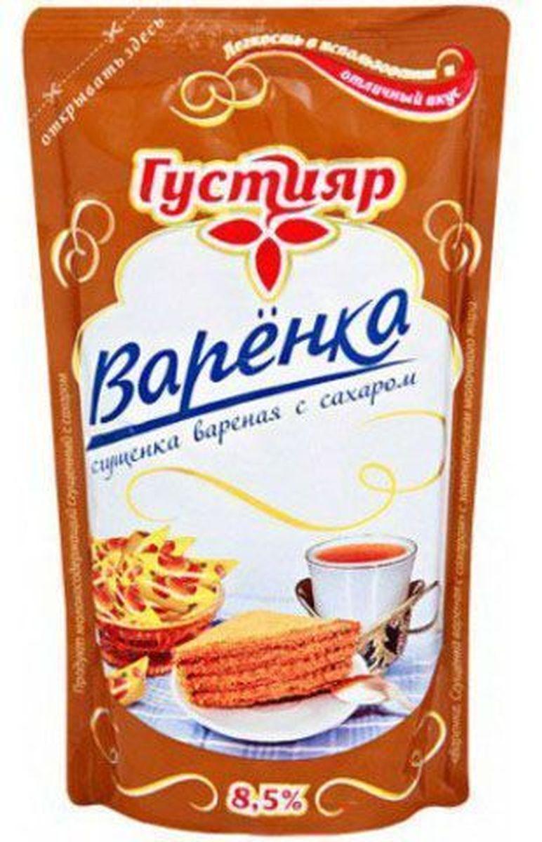 Союзконсервмолоко Густияр молоко сгущенное вареное, 270 г1720Сгущенка вареная Густияр подходит для изготовления кондитерских изделий. Пищевая ценность на 100 г продукта: жира - 8.5 г, белков - 3 г, углеводов - 56 г.