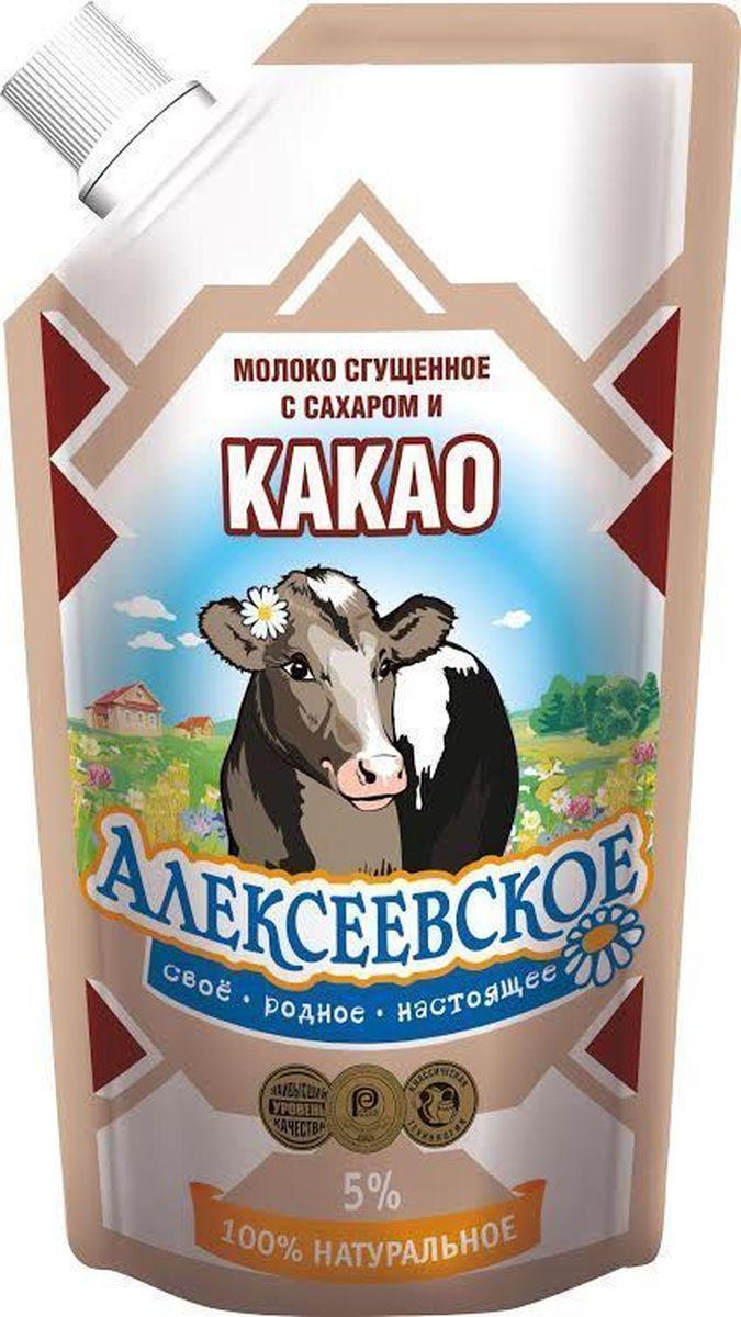 Союзконсервмолоко Алексеевское молоко сгущенное с какао, 270 г