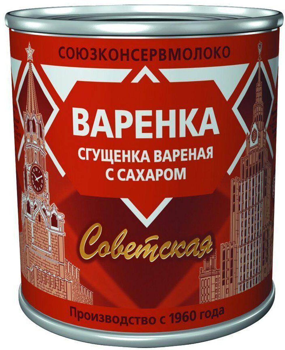 Союзконсервмолоко Советское молоко сгущенное вареное, 370 г простоквашино сырок глазированный вареное сгущенное молоко 20% 40 г