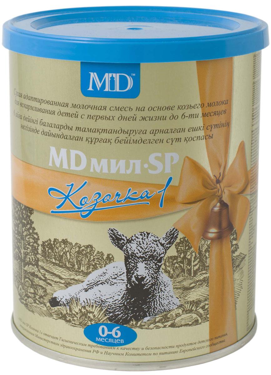 MD Мил SP Козочка 1 молочная смесь с 0 до 6 месяцев, 400 г00000009648MD мил SP Козочка 1 - смесь на основе козьего молока с преобладанием сывороточных белков (соотношение сывороточных белков и казеина 60:40).