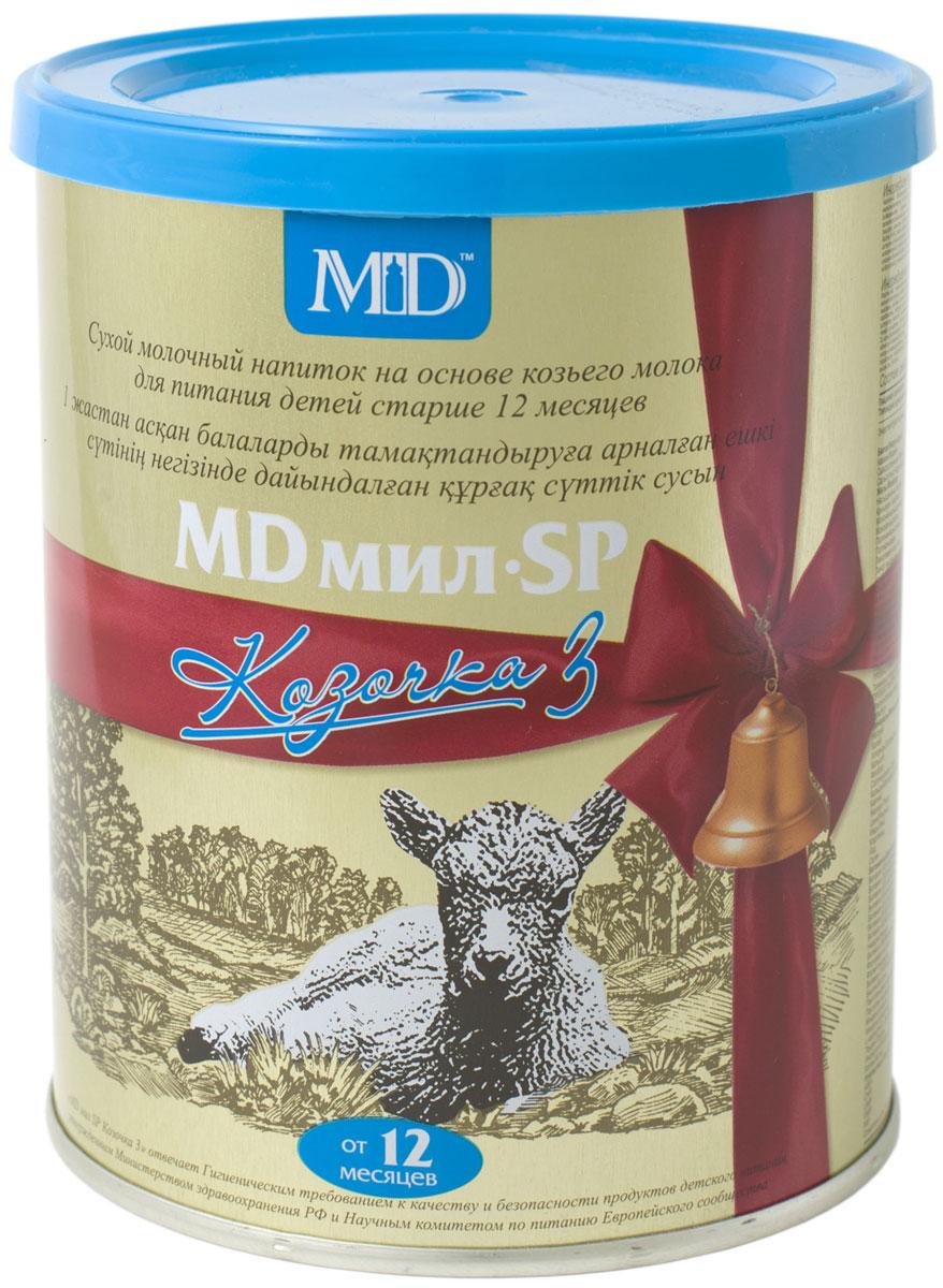MD Мил SP Козочка 3 молочная смесь, с 12 месяцев, 400 г00000009650MD мил SP Козочка 3 разработана специально для детей старше 1 года. В смеси сохранены все уникальные полезные свойства козьего молока, а ее состав обогащен важными компонентами.