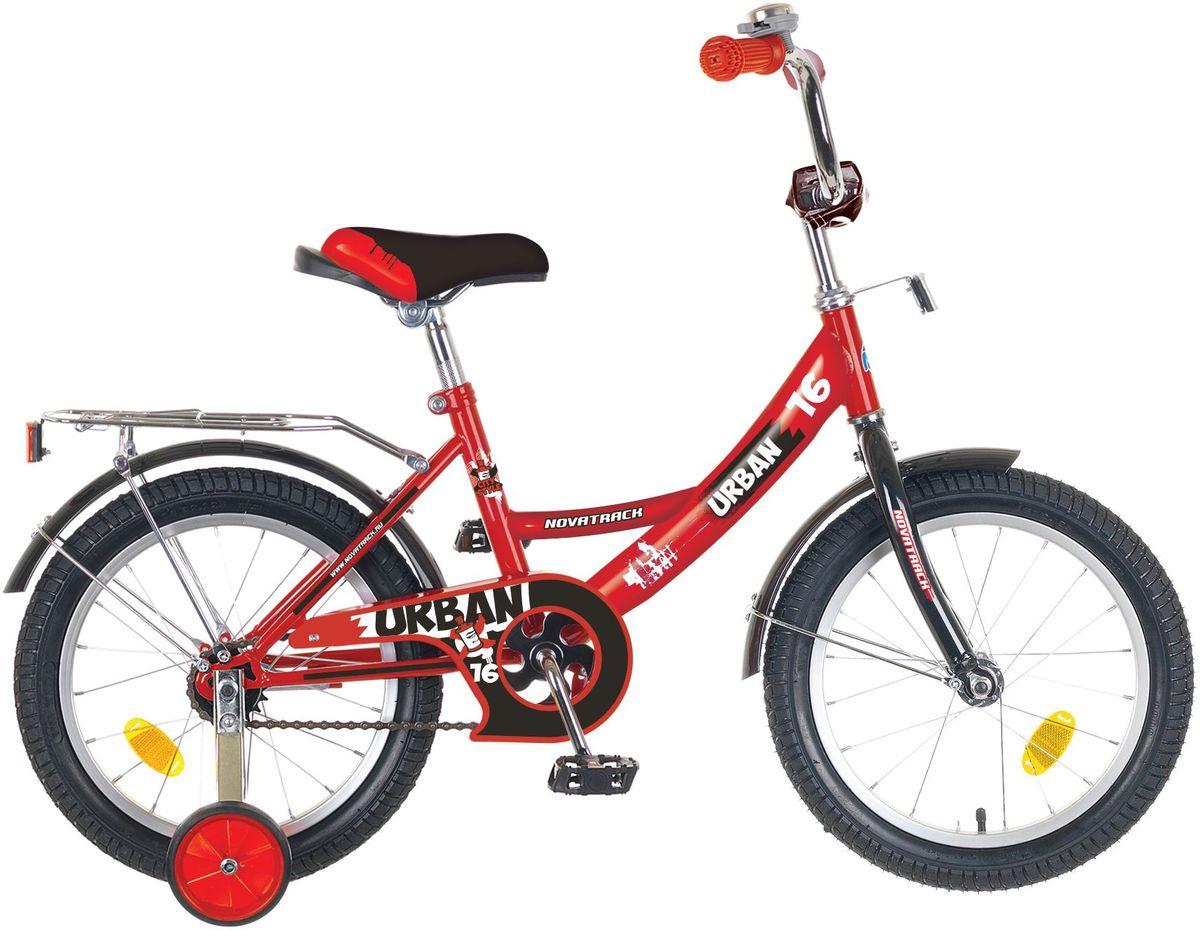 Велосипед детский Novatrack Urban, цвет: красный, черный, 16 детский велосипед novatrack urban 16 blue