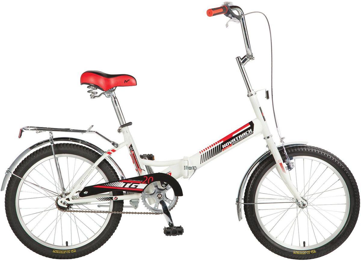 """Велосипед детский Novatrack """"TG-30 Classic"""", цвет: белый, красный, черный, 20"""""""