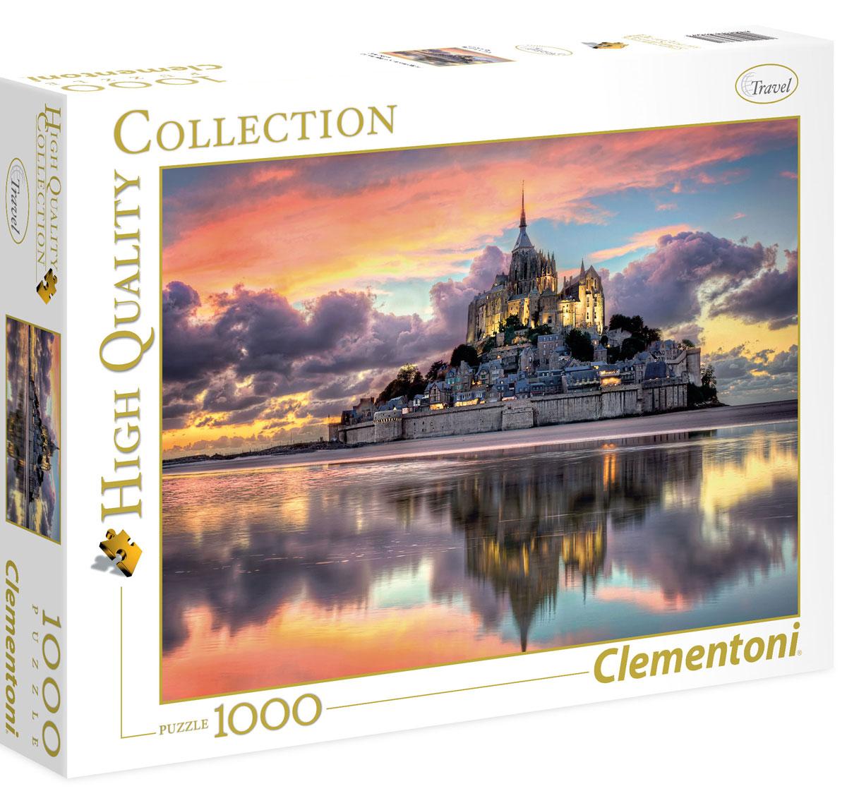 Clementoni Пазл Франция Остров-крепость Мон-Сен-Мишель на закате
