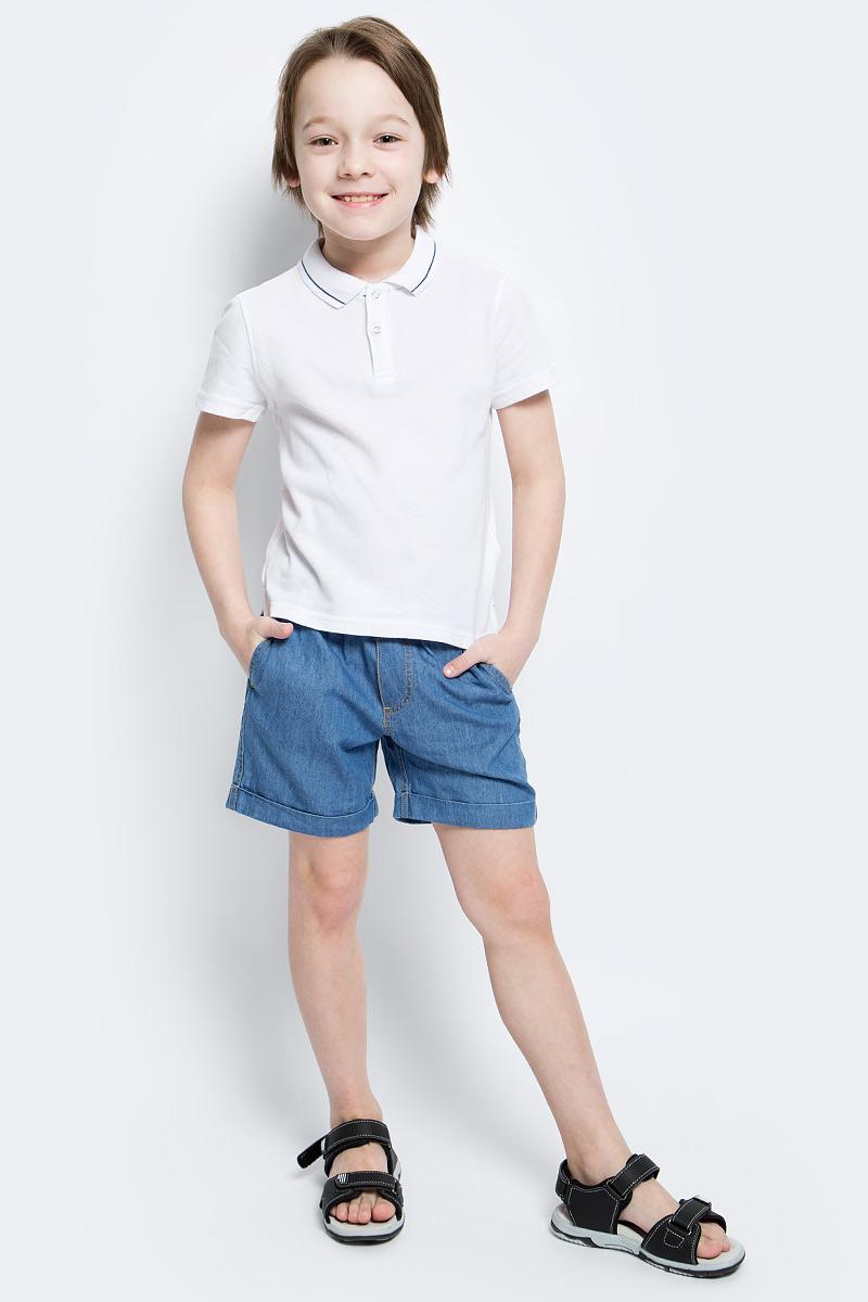 Шорты для мальчика Button Blue Main, цвет: синий. 117BBBC6004D100. Размер 110, 5 лет117BBBC6004D100Классные шорты из тонкой джинсы с поясом на резинке - прекрасное решение на каждый день жаркого лета. И дома, и в лагере, и на спортивной площадке эти шорты для мальчика обеспечат удобство, комфорт и соответствие модным трендам. Купить недорого детские шорты от Button Blue, значит, сделать каждый летний день ребенка радостным и беззаботным!