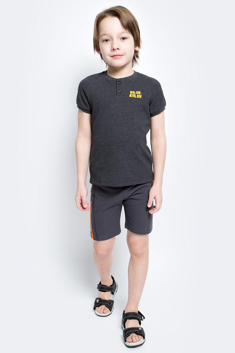 Футболка для мальчика Modniy Juk, цвет: темно-серый меланж. 03В00030300. Размер 122 джемперы modniy juk джемпер