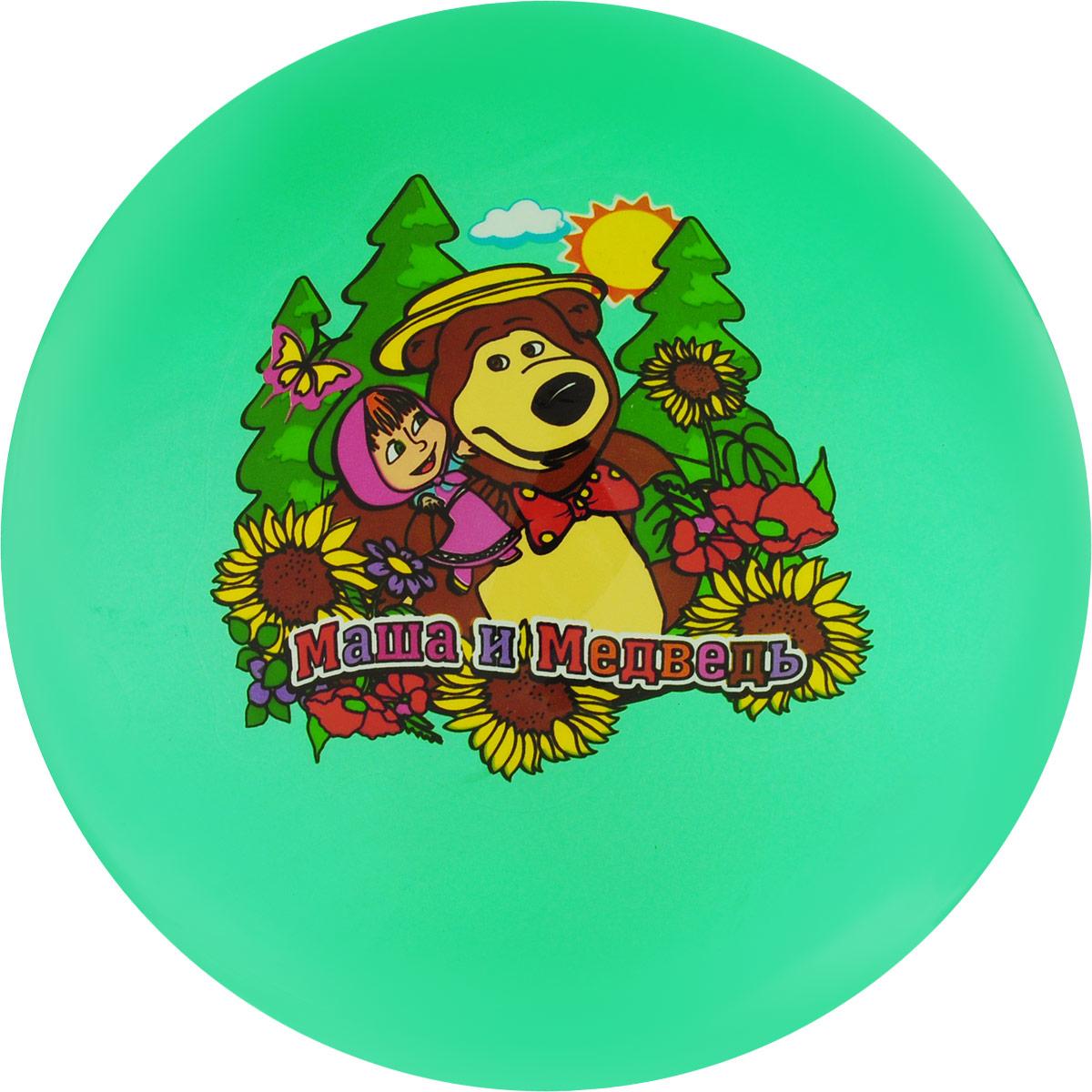 Играем вместе Мяч Маша и Медведь цвет зеленый 23 см