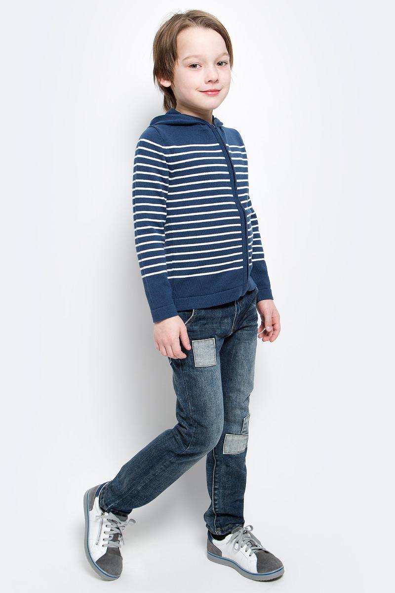 Кофта для мальчика Button Blue Main, цвет: синий. 117BBBC35011005. Размер 98, 3 года шапка для мальчика button blue цвет синий 217bbbx73054000 размер 52
