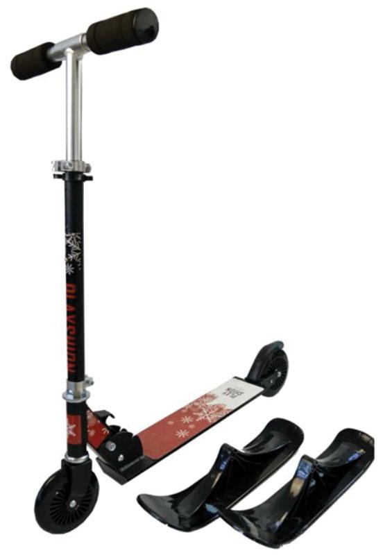 Самокат-снегокат Playshion Kids SnowScooter, 2в1WS-SXСнегокаты являются лучшим вариантом подарка для любого ребенка. Важно отметить, что детский снегокат , не просто является удобным зимним средством передвижения. Это устройство обеспечивает ребенку любого возраста старше 5 лет хорошее физическое развитие. Он обретает и развивает координационные навыки, формирует столь необходимые ему моторику и чувство равновесия!Снегокат имеет несколько уровней подъема руля. В комплекте идут лыжи для прогулки зимой и колеса для летнего сезона. Снегокат имеет съемный руль, что очень удобно при транспортировке и хранении.