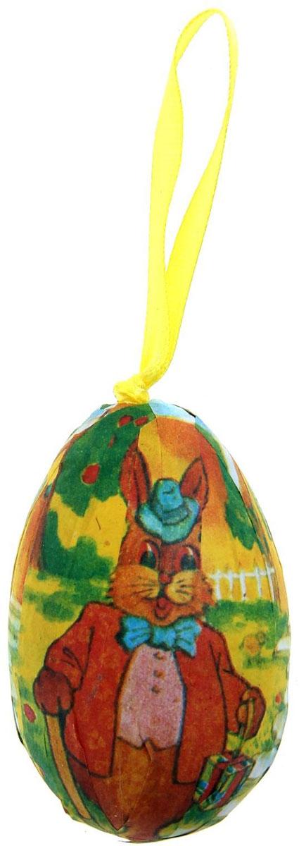 Набор пасхальных подвесных украшений Sima-land Яйцо. Деловой зайка, 4 х 4 х 6 см, 6 шт сувенир пасхальный sima land яйцо горошек 4 х 4 х 6 см 6 шт