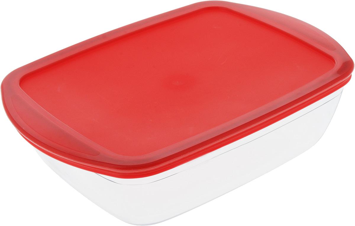 Форма для запекания Pyrex O Cuisine, прямоугольная, с крышкой, 28 х 20 см форма для выпечки pyrex форма для запекания metal classic pyrex 34 см