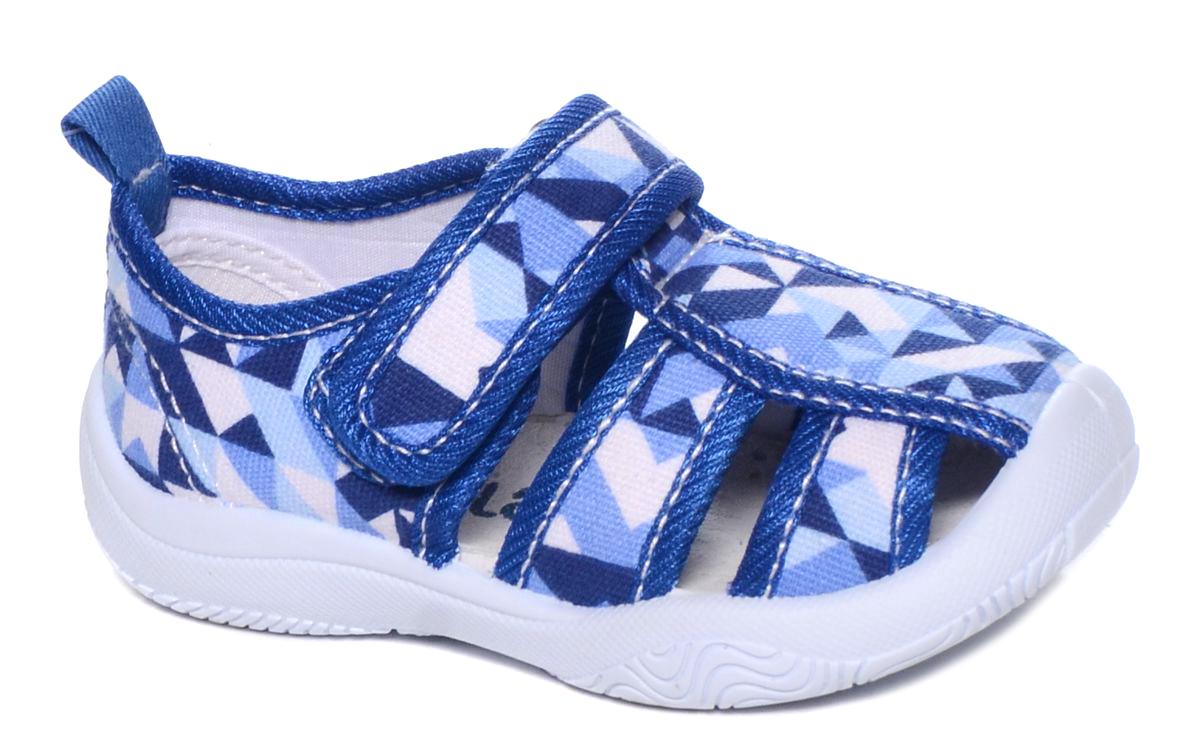 Туфли для мальчика Mursu, цвет: голубой, синий, белый. 101224. Размер 24101224Сандалии для мальчика Mursu выполнены из текстиля, оформленного оригинальными рисунками. Удобная застежка-липучка обеспечивает практичность и комфортную фиксацию модели на ноге. Рифление на подошве гарантирует идеальное сцепление с любой поверхностью. На заднике предусмотрена петелька для удобства обувания.