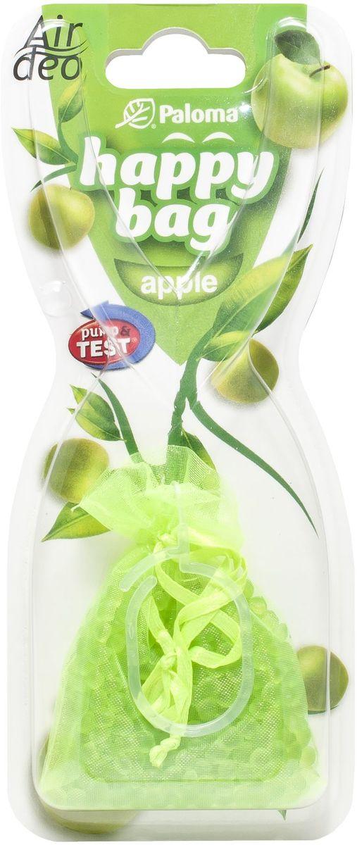 Ароматизатор автомобильный Paloma Happy Bag. Apple210908Автомобильный ароматизатор эффективно устраняет неприятные запахи и придает приятный аромат. Кроме того, ароматизатор обладает элегантным дизайном. Аромат яблока.