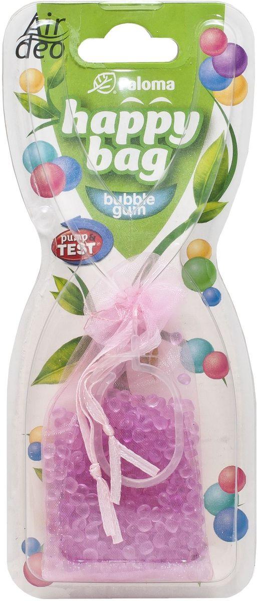 Ароматизатор автомобильный Paloma Happy Bag. Bubble Gum210911Подвесной ароматизатор Paloma Happy Bag. Bubble Gum наполнит салон вашего автомобиля приятным ароматом жевательной резинки, нейтрализуя неприятные запахи, застоявшиеся в салоне. Например, от еды, обуви и сигарет. Тонкий аромат будет сопровождать вас на протяжение всего использования. Универсальный и в то же время изящный дизайн ароматизатора будет гармонично сочетаться с интерьером любого автомобиля, доставляя эстетическое удовольствие.