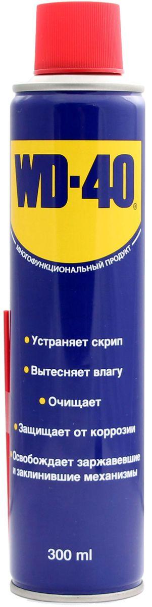 Смазка универсальная WD-40, 300 мл34605Средство помогает деталям и механизмам работать исправно и эффективно. Устраняет скрип, вытесняет влагу с металлических поверхностей, очищает от смолы, клея, жира, оставляет защитную пленку против коррозии. Проникает в ржавчину и освобождает болты и гайки, смазывает движущие части механизмов.