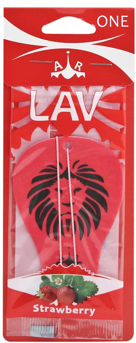 Ароматизатор автомобильный LAV One. Strawberry ароматизатор автомобильный paloma happy bag lemon
