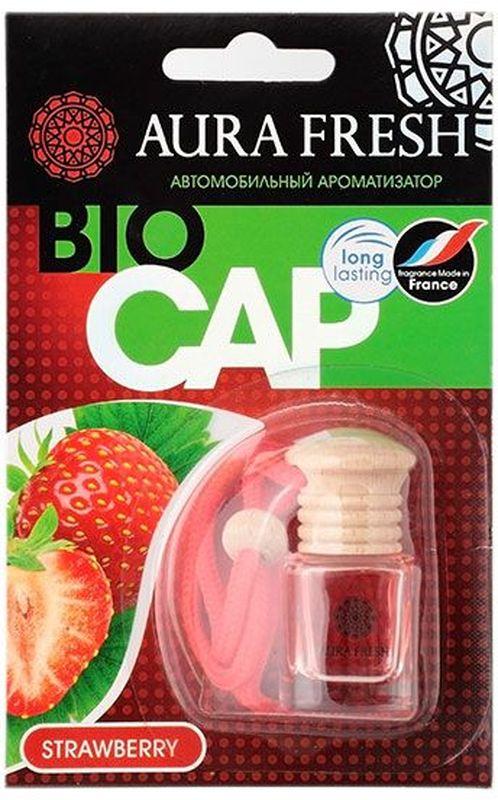 Ароматизатор автомобильный Aura Fresh Bio Cap. Strawberry ароматизатор fresh way парус машина капучино и ваниль