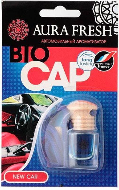 Ароматизатор автомобильный Aura Fresh Bio Cap. New CarAUR-BC-00014Ароматизатор автомобильный Aura Fresh крепится с помощью компактной веревки на фронтальное обзорное зеркало автомобиля или любое другое удобное место. Миниатюрная емкость заполнена легким ароматом, окутывающим пространство внутри салона. Водителю больше не понадобится все время открывать окна для проветривания. Диффузор поддерживает ощущение чистоты и свежести. Ароматическая композиция раскрывается постепенно и ненавязчиво и обеспечивает нежный запах, который сохраняется максимально долго.
