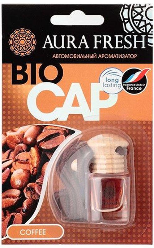 Ароматизатор автомобильный Aura Fresh Bio Cap. CoffeeAUR-BC-0005Ароматизатор автомобильный Aura Fresh крепится с помощью компактной веревки на фронтальное обзорное зеркало автомобиля или любое другое удобное место.Миниатюрная емкость заполнена легким ароматом, окутывающим пространство внутри салона. Водителю больше не понадобится все время открывать окна для проветривания. Диффузор поддерживает ощущение чистоты и свежести. Ароматическая композиция раскрывается постепенно и ненавязчиво и обеспечивает нежный запах, который сохраняется максимально долго.