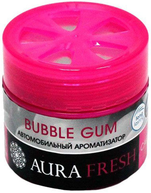 Ароматизатор автомобильный Aura Fresh Bubble Gum, на панель ароматизатор подвесной fouette aroma box bubble gum