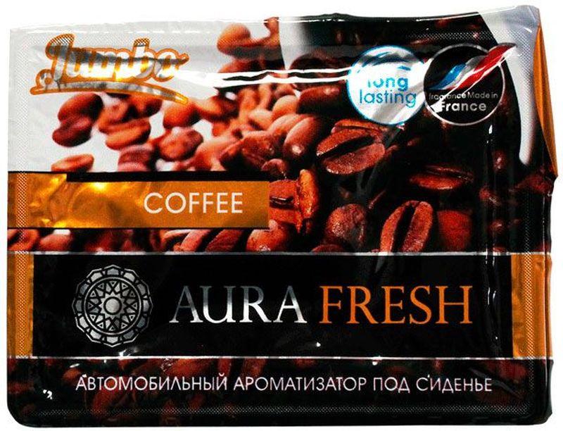 Ароматизатор автомобильный Aura Fresh Jumbo. Coffee, под сиденьеAUR-J-0005Автомобильный ароматизатор Aura Fresh эффективно устраняет неприятныезапахи и придает легкий приятный аромат. Сочетание геля с парфюмами наилучшего качества обеспечивает устойчивый запах. Благодаря удобной конструкции, его можно положить под сиденье.