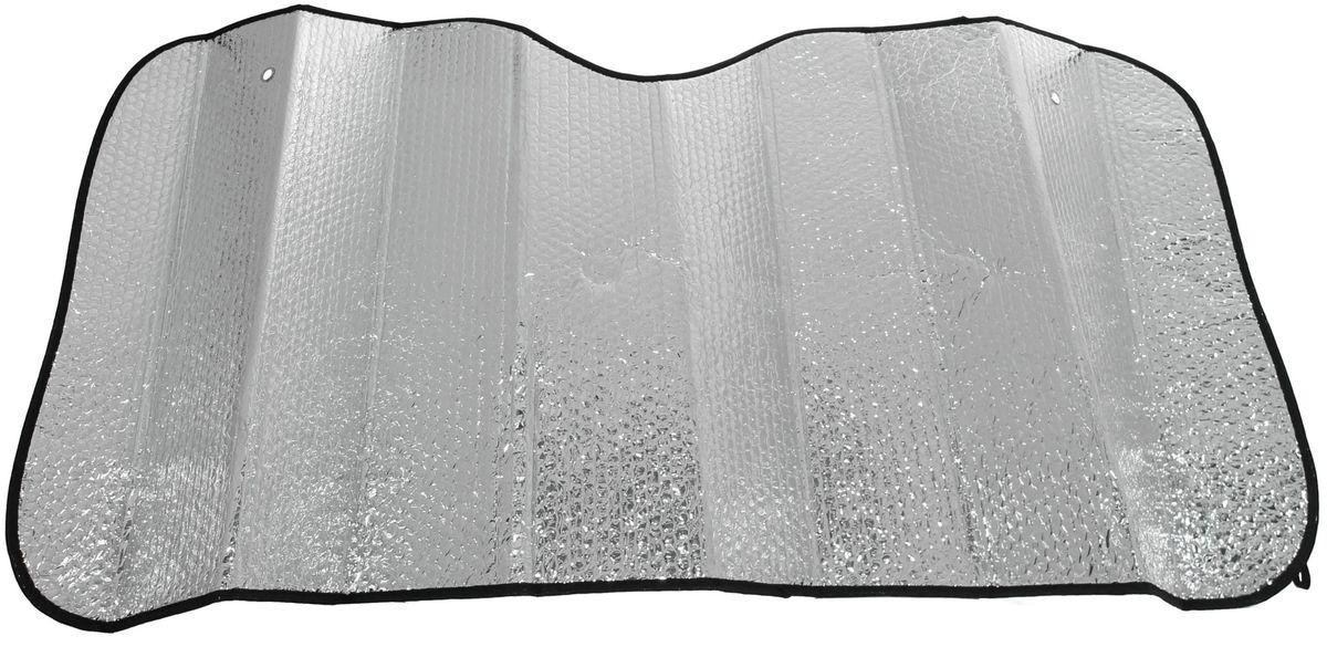 Шторка солнцезащитная Главдор, на лобовое стекло, 130 х 60 смGL-703Солнцезащитная шторка Главдор изготовленная из металлизированный фольги и плотного основания, фиксируется с помощью двух присосок на лобовое стекло (присоски в комплекте). Шторка отражает солнечные лучи и препятствует нагреванию и выгоранию поверхности деталей салона.Шторка компактная, легкая и удобна в хранении и подходит на любые стекла автомобиля.