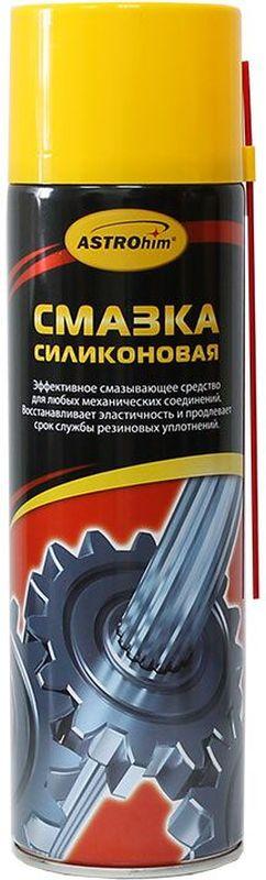 Смазка силиконовая ASTROhim, 650 млАС-4616Силиконовая смазка ASTROhim предназначена для ухода за механическими соединениями в автомобиле (замки и петли дверей, капота, багажника, стеклоподъемники, тросы, личинки замков, приводы и направляющие).Предохраняет от коррозии, устраняет неприятные скрипы. Незаменимое средство для обслуживания промышленного оборудования (для смазывания пресс-форм при производстве пластиковых и резиновых изделий, для обработки фильер в производстве химических волокон).Помогает избежать примерзания и растрескивания резиновых уплотнений дверей, багажника, капота в условиях отрицательных температур.Защищает систему зажигания от проникновения влаги и утечки тока.Профессиональная концентрированная формула образует на поверхности сплошной полимерный слой силикона с высокими смазывающими и водоотталкивающими свойствами в широком интервале температур (от -40 0С до +170 0С). Смазка способна оставаться на поверхности после многочисленных моек и при частом перепаде температур. Товар сертифицирован.