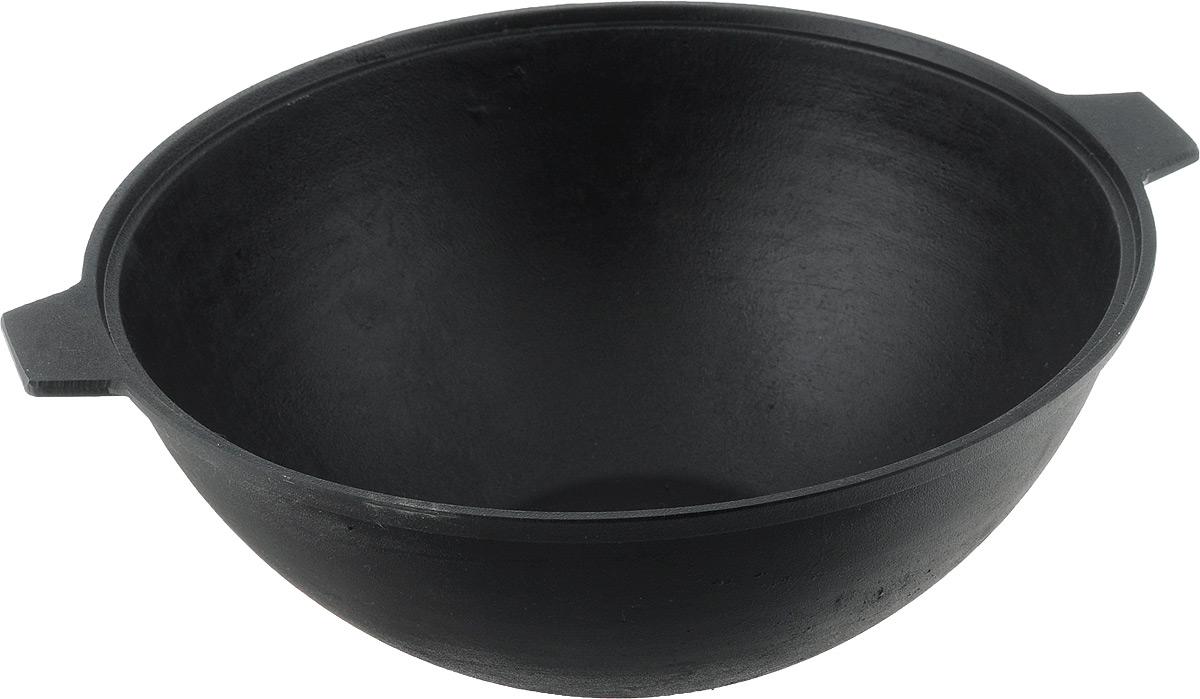 Котел Добрыня, 5 лРАД00000749_коричневыйКотел Добрыня изготовлен из натурального экологически безопасного чугуна. Чугун является одним из лучших материалов для производства посуды. Его можно нагревать до высоких температур. Он очень практичный, не выделяет токсичных веществ, обладает высокой теплоемкостью и способен служить долгие годы. Наличие толстого дна обеспечивает равномерное прогревание, а высокие антипригарные свойства позволят избежать пригорания.Такой котел замечательно подойдет для приготовления жаренных и тушеных блюд. Изделие оснащено литыми ручками.Подходит для духовки и всех типов плит, включая индукционные.Ширина котла (с учетом ручек): 35 см. Высота стенки: 12,5 см. Уважаемые клиенты! Для сохранения свойств посуды из чугуна и предотвращения появления ржавчины чугунную посуду мойте только вручную, горячей или теплой водой, мягкой губкой или щёткой (не металлической) и обязательно вытирайте насухо. Для хранения смазывайте внутреннюю поверхность посуды растительным маслом, а перед следующим применением хорошо накалите посуду.