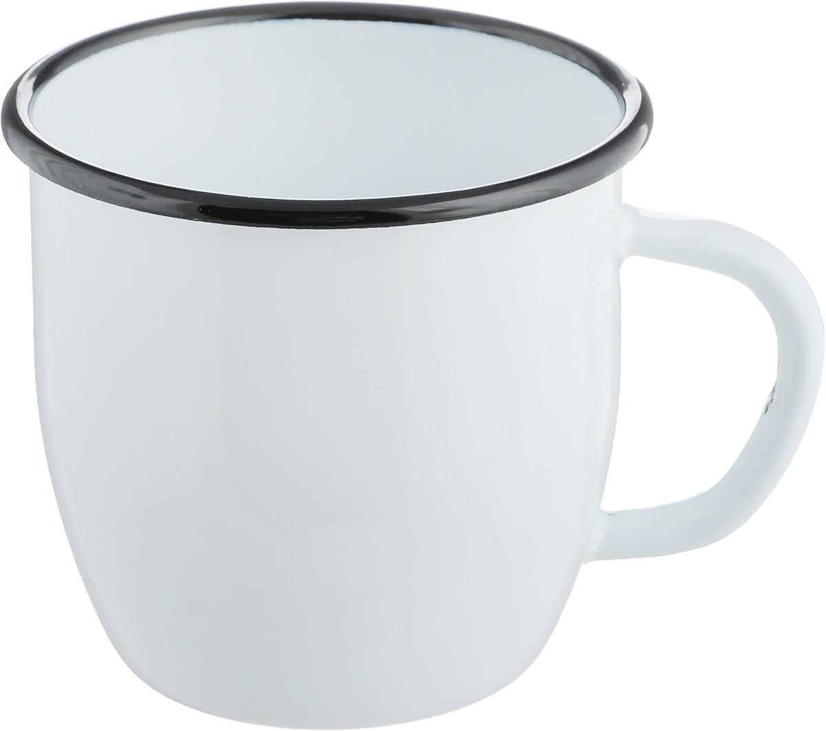"""Кружка """"Лысьвенские эмали"""" изготовлена из высококачественной стали с эмалированным покрытием. Она оснащена удобной ручкой. Такая кружка не требует особого ухода и ее легко мыть.Благодаря классическому дизайну и удобству в использовании кружка займет достойное место на вашей кухне. Внутренний диаметр кружки: 7 см.Внешний диаметр: 8 см.Высота: 7 см."""