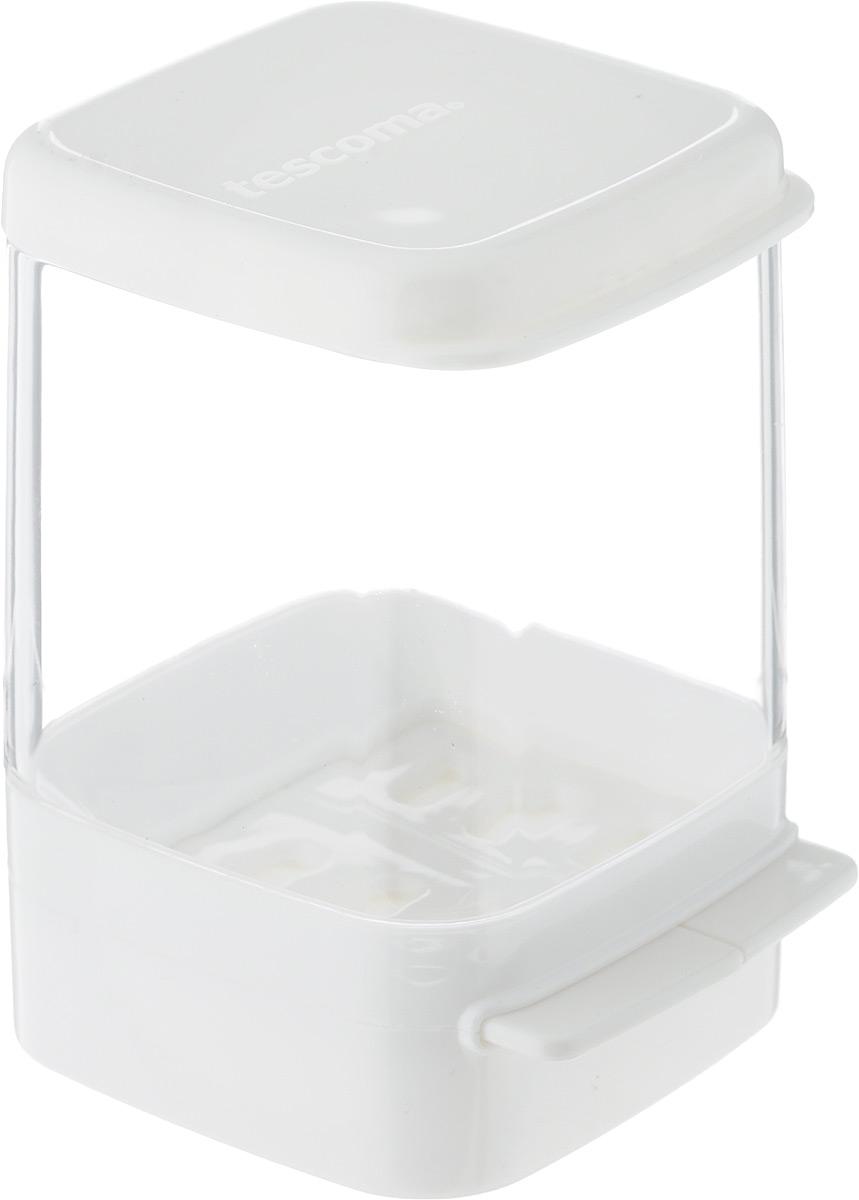 Kонтейнер для холодильника Tescoma Purity, для пармезана, 7 х 7 х 10,5 см891838Контейнер Tescoma Purity изготовлен из высококачественного медицинского пластика. Отлично подходит для гигиеничного хранения пармезана и других твердых сыров в холодильнике. Используемый материал, очень высокого качества и никак не влияет на качество пищи, даже при длительном хранении. Изделие оснащено дозатором маленькой и большой порции пармезана, а также съемной крышкой для легкого наполнения. Можно мыть в посудомоечной машине.