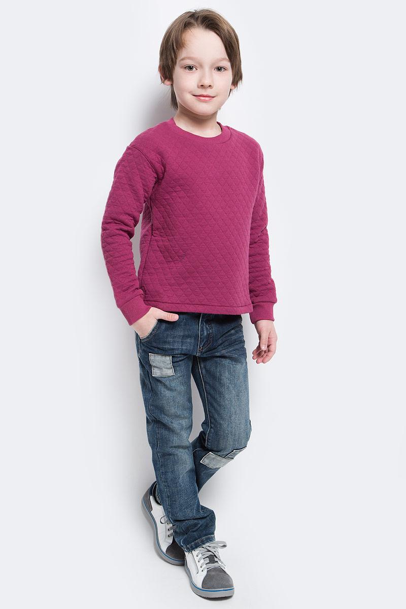 Свитшот для мальчика Button Blue Main, цвет: брусничный. 117BBBC16050300. Размер 104, 4 года button blue шапка для мальчика button blue