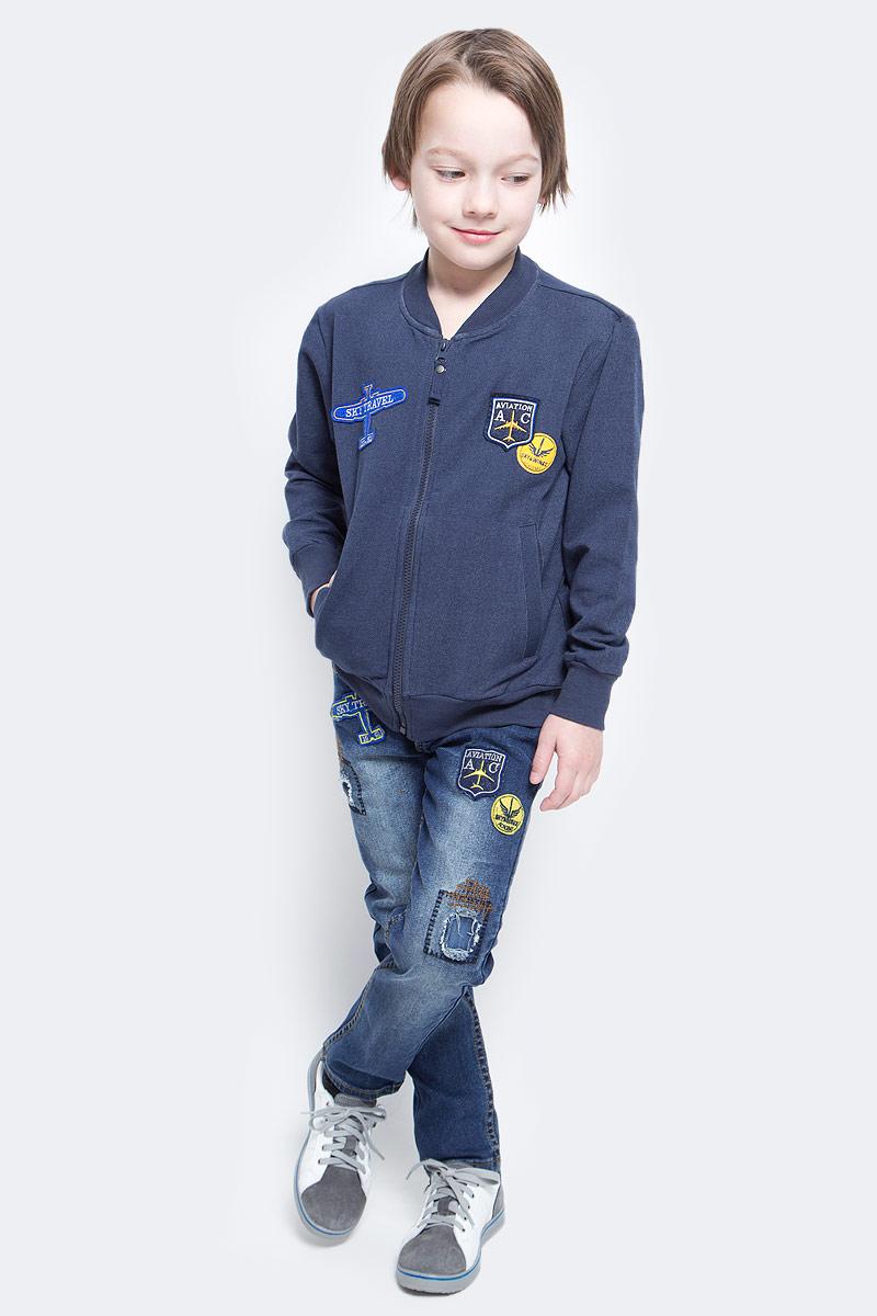 Толстовка для мальчика Sela, цвет: темно-синий. Stc-813/166-7112. Размер 152, 12 лет