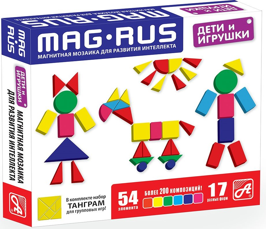 Mag-Rus Мозаика магнитная Дети и игрушки поильники pigeon mag mag с трубочкой 8 мес 200 мл
