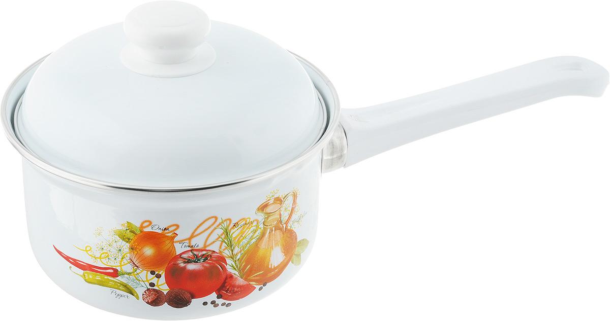 Ковш Лысьвенские эмали Итальянская кухня, 1 лС-1607АП/4Ковш Лысьвенские эмали Итальянская кухня изготовлен из высококачественной стали с эмалированным покрытием. Эмалевое покрытие, являясь стекольной массой, не вызывает аллергию и надежно защищает пищу от контакта с металлом. Кроме того, такое покрытие долговечно, оно устойчиво к механическому воздействию, не царапается и не сходит, а стальная основа практически не подвержена механической деформации, благодаря чему срок эксплуатации увеличивается.Ковш оснащен удобной пластиковой ручкой. В комплект входит стальная крышка с эмалированным покрытием.Подходит для всех типов плит, включая индукционные. Можно мыть в посудомоечной машине.Высота ковша: 8,5 см.Длина ручки: 15,5 см.