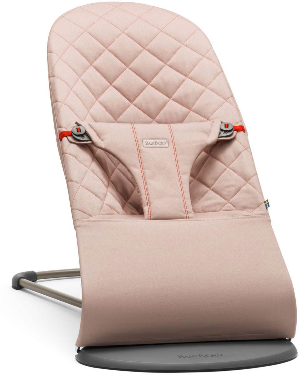 BabyBjorn Кресло-шезлонг Bouncer Bliss Cotton цвет розовый - Качели и шезлонги