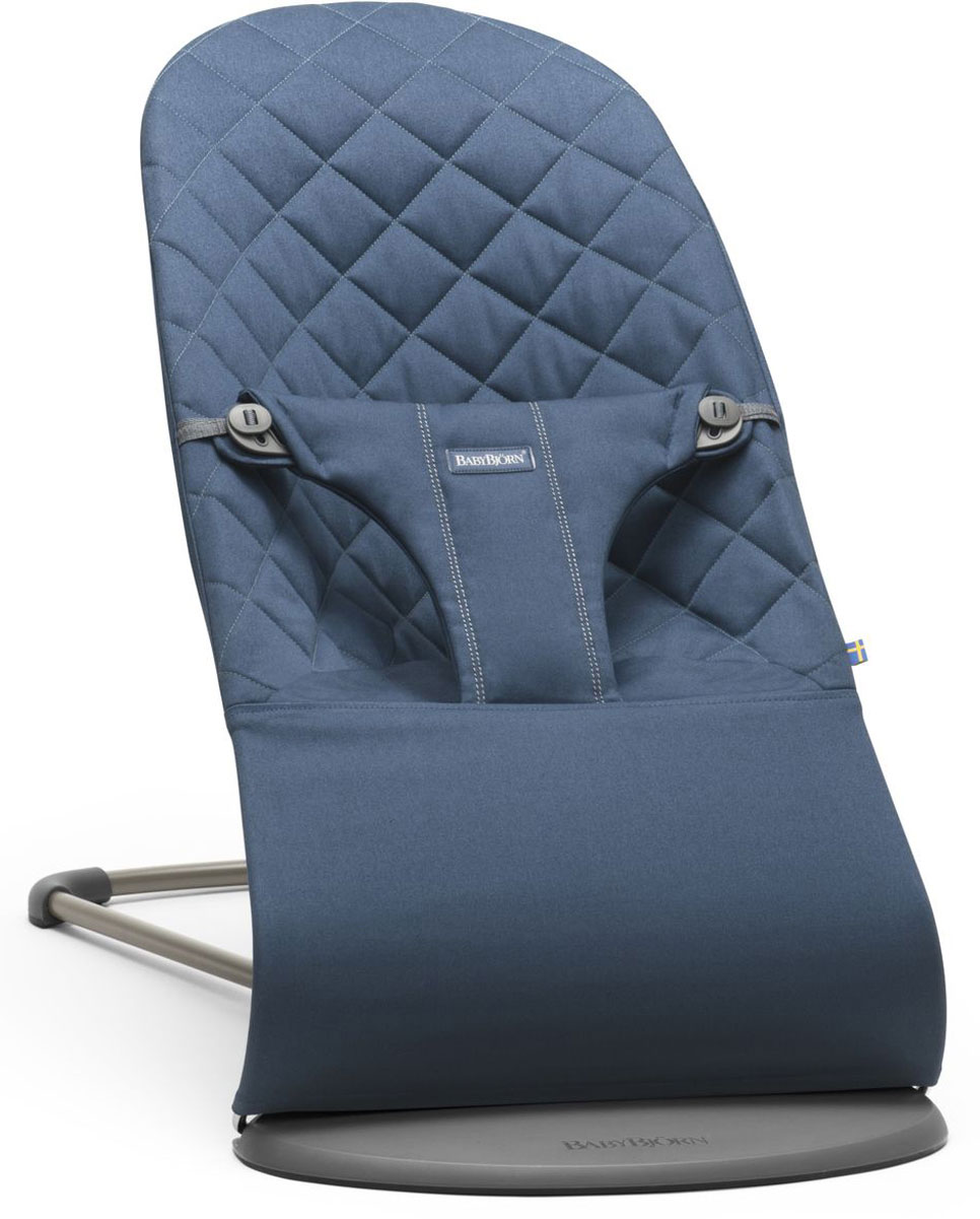 BabyBjorn Кресло-шезлонг Bouncer Bliss Cotton цвет синий кресла качалки шезлонги babybjorn кресло шезлонг bliss mesh