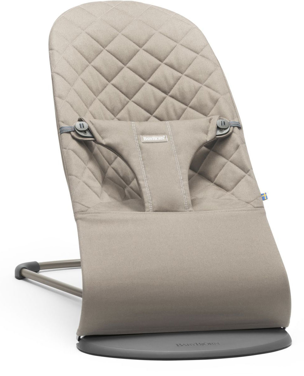BabyBjorn Кресло-шезлонг Bouncer Bliss Cotton цвет песочный кресла качалки шезлонги babybjorn кресло шезлонг bliss mesh